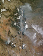 Satellite image of Wallow North fire. Photo courtesy of NASA Goddard Space Flight Center, CC BY 2.0