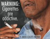 An example of the new cigarette warning labels.
