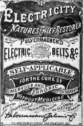 Advertisement for Pulvermacher's Electric Belts, one item in the Museum of Questionable Medical Devices