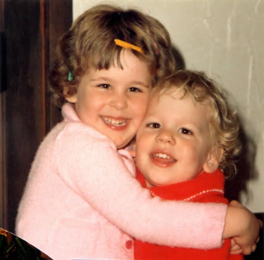 Bipolar blogger Natasha Tracy and her brother, Luke.