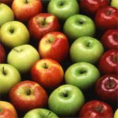 Assorted apples.