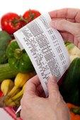 Grocery receipt.