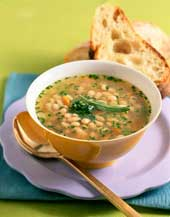 Bean and broth-based soup