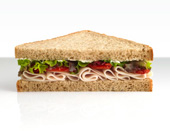 A healthy turkey sandwich.