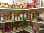 A cleaned pantry.