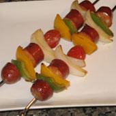 grilled sausage kabobs