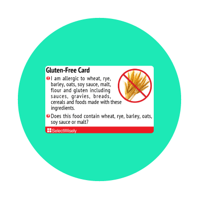 Allergy food cards