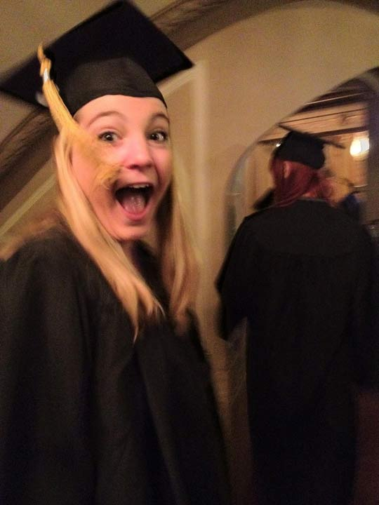 girl excited for graduation