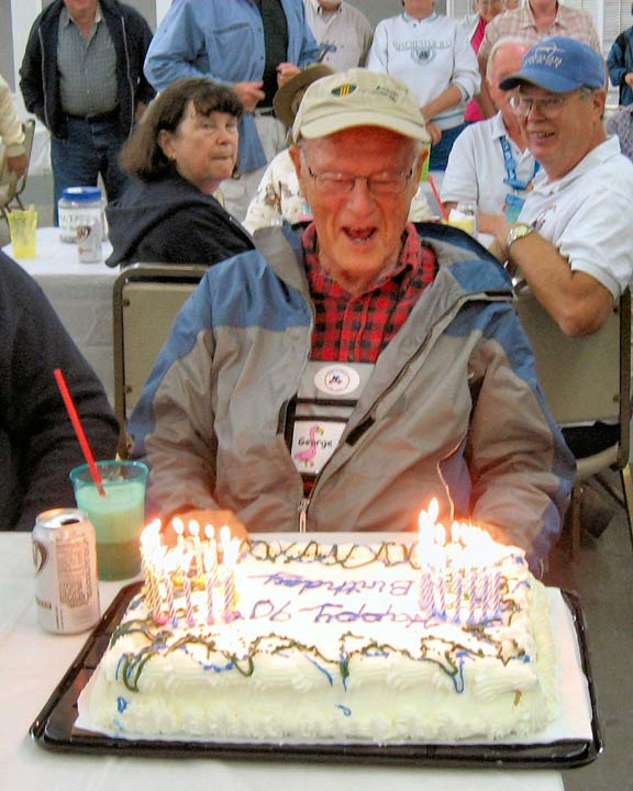 elderly man celebrating 90th birthday