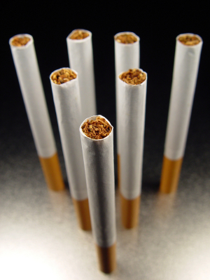 Six unsmoked cigarettes. Photo courtesy of iStockphoto.com