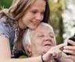 care taker with older type 2 diabetes patient