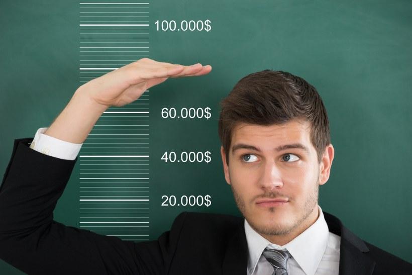 Man Measuring Height