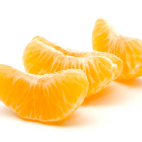 Segmented orange slices