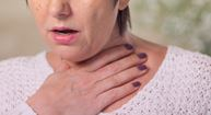 woman with IPF catching her breath