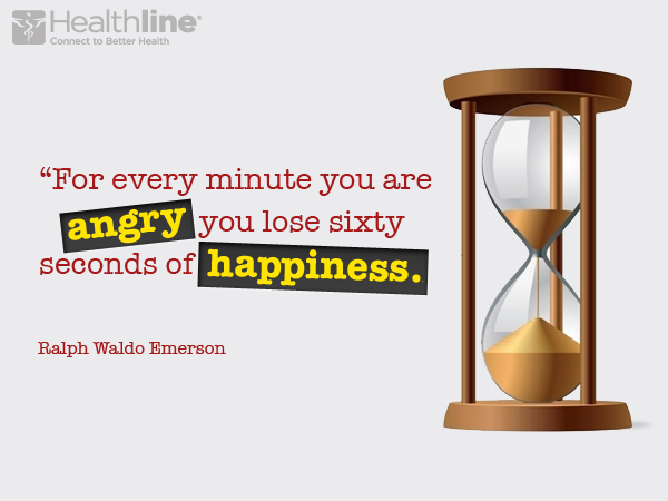 """For every minute you are angry you lose sixty seconds of happiness."""