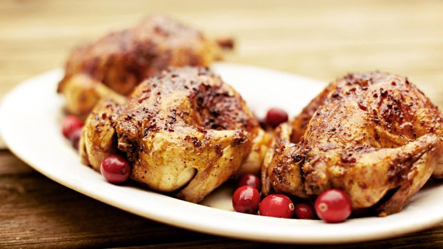 Glazed Roasted Cornish Hens