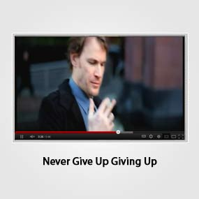 Never Give Up Giving Up