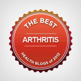 We're in the top 22 rhematoid arthritis blogs for 2012