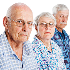 Three elderly adults