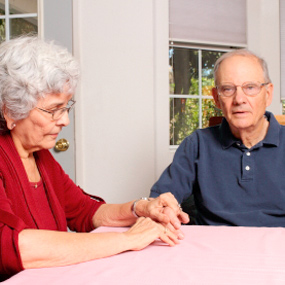 Elderly man and woman