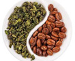 loose tea and coffee beans