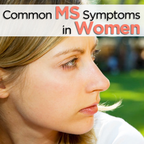 MS common symptoms womans face