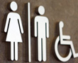 female male and handicapped restroom symbols