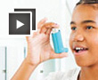 Girl with inhaler