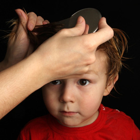 boy with head lice