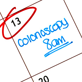 colonoscopy written on calendar