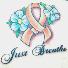 Multiple Sclerosis Ribbon Tattoo