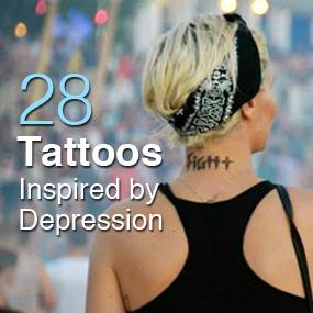 X Tattoos Depression