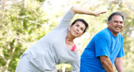 people with arthritis stretching
