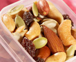 travel container with nuts