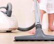 person vacuuming