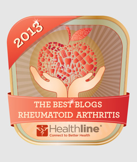 We're in the top 20 rhematoid arthritis blogs for 2013