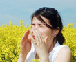 woman suffering allergies