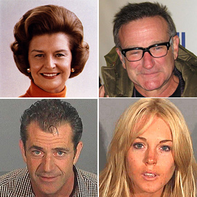 Famous faces of alcoholism.