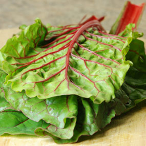 Raw swiss chard.