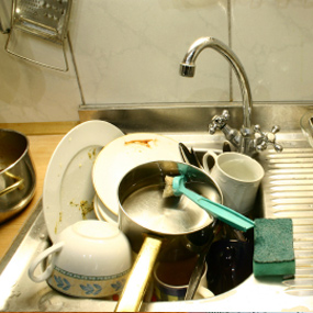 Dirty Kitchen Sink