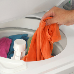 Dirty Laundry in Washer