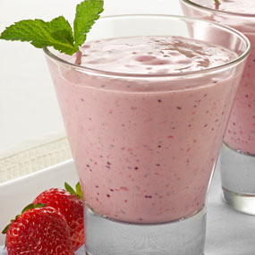 Banana Strawberry Soy Smoothie