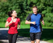 couple jogging to lower their cholesterol