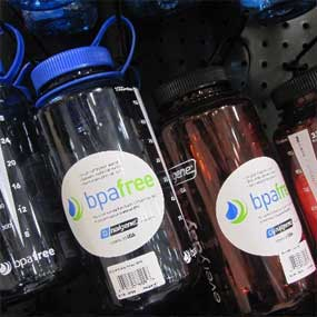 BPA-free water bottles