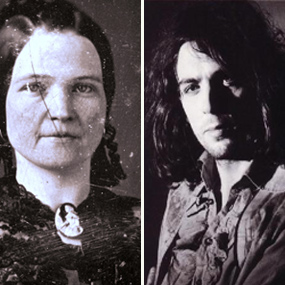 Former First Lady Mary Todd Lincoln and Syd Barrett, founding member of Pink Floyd