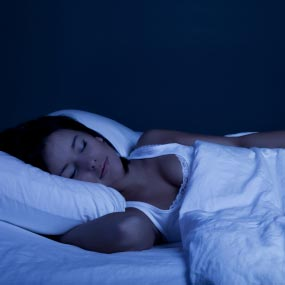 A dark room promotes sound sleep.