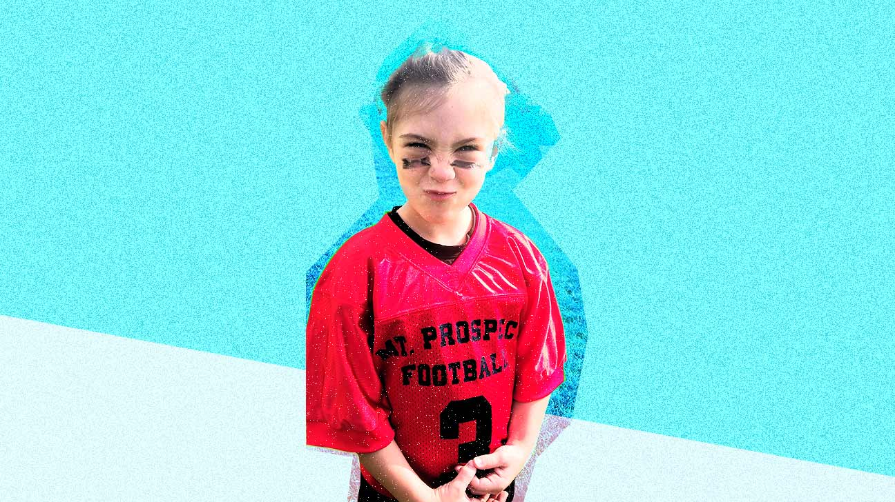 daughter playing football