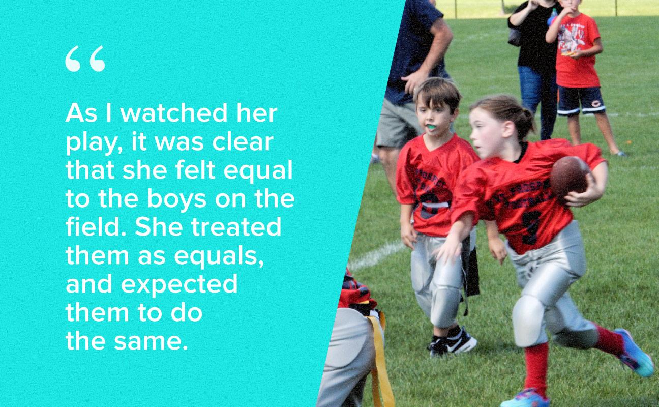 daughter football
