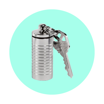 Key chain pill container
