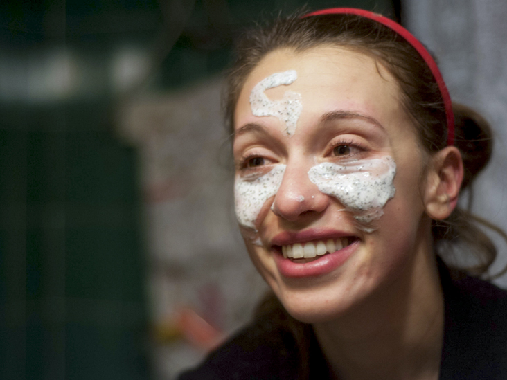 Cream faced teen poked